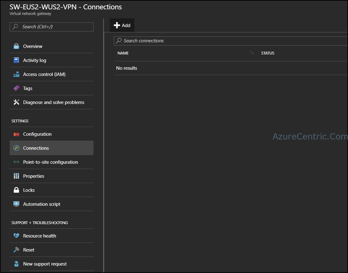 Azure VNet-to-VNet VPN configuration – Part 3