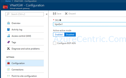 Adding an IP to an existing Azure Virtual Network Gateway